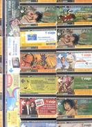 125  SUBWAY CARDS - 125 DIFFERENTE METRO CARDS - TARJETAS SUBTERRANEO  SUBTEPASS ARGENTINE TBE - Argentinien