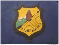 GRAND PATCH TOILE TRES ANCIEN 1 COMPAGNIE ARC DE MARRAKECH - Tir à L'Arc