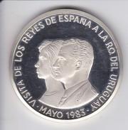 MONEDA DE PLATA DE URUGUAY DE 2000 PESOS DEL AÑO 1983 VISITA DE LOS REYES DE ESPAÑA (COIN) SIN CIRCULAR-UNCIRCULATED - Uruguay