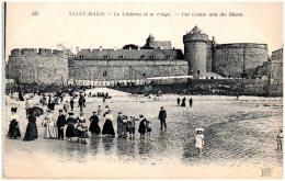 35 SAINT-MALO - Le Chateau Et La Plage - Saint Malo