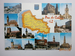 Postcard Pas De Calais 62 Multiview Hesdin Arras Lieven Bethune St Pol Sur Ternoise My Ref B2170 - France