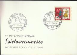 Germany Nurnberg 1966 / International Toys Fair / Spielwarenmesse - Childhood & Youth