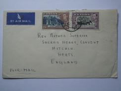 CEYLON 1947 GEORGE VI AIR MAIL COVER TO ENGLAND - Ceylon (...-1947)