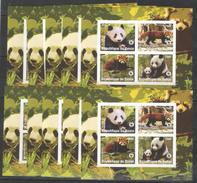 10x BENIN - MNH - Animals - Panda - 2008 - Imperf. - WWF - Stamps