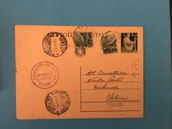 CARTOLINA POSTALE DEMOCRATICA LIRE 2+1X2- - 1946-60: Poststempel