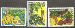 Neukaledonien Nouvelle Caledonie 2007 Fruits Banane Vanille Ananas Früchte Michel No. 1446-48 MNH Postfr Neuf - Neukaledonien