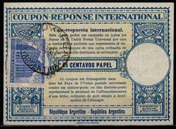 ARGENTINA, London Type XVa 65 CENTAVOS PAPEL + 35c Stamp Int. Reply Coupon Reponse Respuesta Antwortschein IAS O 25.6.53 - Interi Postali