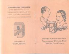 LIBRETA PERONISTA  - ORIGINAL AUTHENTIQUE - JUSTICIALISMO PERON EVITA TBE RARE ARGENTINA - Historische Documenten