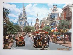Postcard Main Street USA Disneyworld Disney The Vacation Kingdom Of The World My Ref B2175 - Disneyworld
