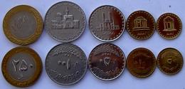 IRAN SERIE 5 MONETE 250-100-50-10-5 RIAL  CON BIMETALLICA FDC UNC - Iran