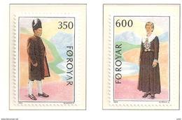 Faroe Islands  1989 Costumes   Mi 182-183, MNH(**) - Féroé (Iles)