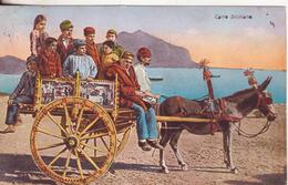 11-Feste-Folklore Sicilia-Carretto Siciliano-v. 1923 Da Napoli X Bari Con Coppia 10c.V.E.III - Italia