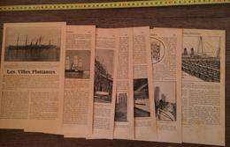 ENV 1900 LES VILLES FLOTTANTES CHANTIERS DE PENHOET PRES DE SAINT NAZAIRE ETC... - Alte Papiere
