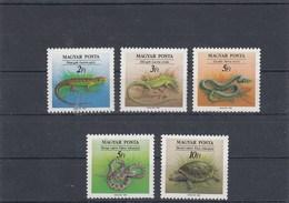 Hongrie - Reptiles - Neufs** - Année 1989 - Y.T. 3223/3227 - Ungheria