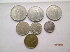 ITALY 7 Coins # L1 - 1946-… : Republic