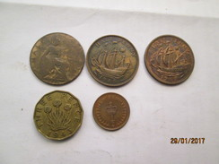 GREAT BRITAIN 5 Coins # L1 - 1902-1971 : Post-Victorian Coins