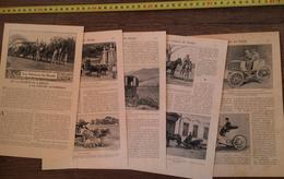 ENV 1900 VOITURES DU MONDE DE LA CHARRETTE A BOEUFS A LA VOITURE AUTOMOBILE - Vieux Papiers
