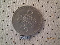 CYPRUS 50 Mils 1977 # 2 - Cyprus