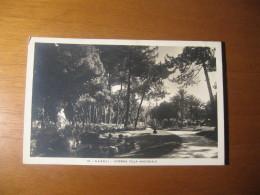 CARTOLINA FORMATO PICCOLO VERA FOTOGRAFIA N°  10 -  NAPOLI  INTERNO VILLA NAZIONALE - Napoli