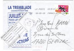 FRANCIA - France - 2009 - Lettre Prioritaire 20g - Fête Du Timbre + Retour à L'envoyeur - Viaggiata Da 03151A Per Gémoza - Francia
