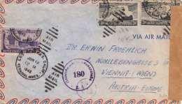 USA Brief Mit Ö-Zensur 1948, 3 Fach Farnkiert, Viele Stempel - Vereinigte Staaten