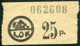 Finland LOK Lahti Cooperative Emergency Currency Money-stamp Revenue 25 Penni Type 2 Wertmarke Notgeld BEAR Ours Bär - Finland