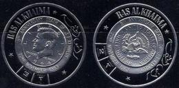 Ras Al Khaima Gilt Coin Set Of 2 - Kennedy - Unusual