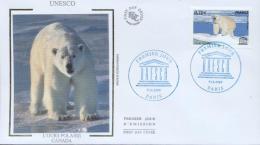 France 2009 - Cover: FDC - Icebear, UNESCO