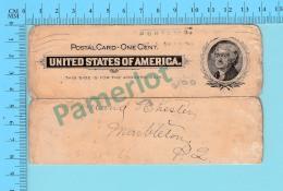 Commercial Card, Doten Grain Boston USA To  Marbleton Quebec Canada 1899 - 2 Scan - United States