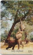 ZIMBABWE  PHONECARD (CHIP) HAPPY ELEPHANT  -ZIM 24-USED(bx1) - Zimbabwe