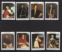 ILES VIERGES 1988 PEINTURES LE TITIEN  YVERT N°590/93-598/601  NEUF MNH** - Other