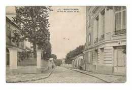 CPA 91 MONTGERON LA RUE DU CHEMIN DE FER - Montgeron