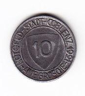 ALLEMAGNE, JETON, COBLENZ, 1921,10 P. (B339) - Monétaires/De Nécessité