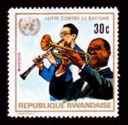 Rwanda, 1972 Scott #487, Musicians And UN Emblem. Fight Agains Racism, MNH, VF - Rwanda