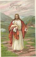 GESEGNETE OSTERN - (Jéus Portant Un Mouton ) - Pascua