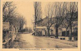 St Saint Marcel Les Sauzet (Drôme) - Avenue De Sauzet - Photo Combier, Carte Non Circulée - Francia