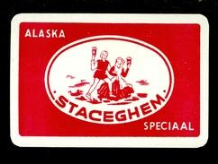Speelkaart ( 0112 ) 1 Losse Kaart - Publicité  Reclame Bier Bière Brasserie Brouwerij -  Staceghem  Stasegem - Barajas De Naipe