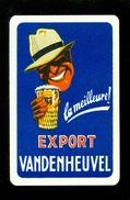 Speelkaart ( 0117 ) 1 Losse Kaart - Publicité  Reclame Bier Bière Brasserie Brouwerij -  Vandenheuvel - Barajas De Naipe