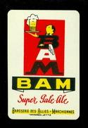 Speelkaart ( 0119 ) 1 Losse Kaart - Publicité Reclame  Bier Bière Brasserie Brouwerij -  BAM Marchiennes - Barajas De Naipe