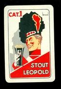 Speelkaart ( 0123 ) 1 Losse Kaart - Publicité Reclame  Bier Bière Brasserie Brouwerij -  STOUT LEOPOLD - Barajas De Naipe