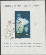 DDR 1962 Y&T BF 11 Michel Bl 17 Vols Cosmiques Soviétiques. Oblitéré 1er Jour, Wostok - Space