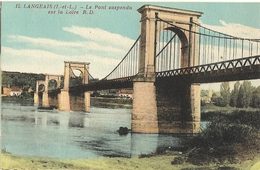 LANGEAIS  -  Le   Pont Suspendu     86 - Langeais