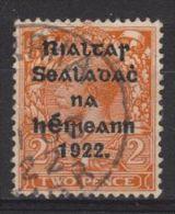 Ireland SG13 1922 Definitive 2d (TII) Overprinted Good Used - 1922 Governo Provvisorio