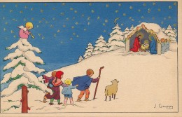 G30 - Illustrateur J. GOUPPY - La Nativité - NOËL - Andere Illustrators