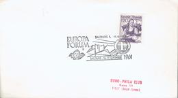 """Cachet Temporaire """"Europa Forum Salzburg"""" Du 15/9/1961 Avec Emblème Du Lion's Club International - Rotary Club"""