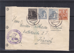 Allemagne - Allies - Lettre De 1947 - Oblitération Barstedt - Avec Censure Britannique - Bizone