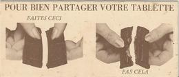 Chocolat, Liseuse, Signet, Pour Bien Partager Votre Tablette Faites Ceci Pas Cela. Cm. 14 X 6. - Livres, BD, Revues