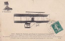 CPA  BIPLAN H. FARMAN PILOTE PAR LE LIEUTENANT CAMERMANN. - ....-1914: Precursores