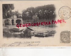 77 - CHELLES - LA MARNE ET LES MOULINS  -  CARTE PRECURSEUR 1902 - Chelles