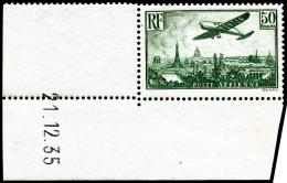 N°14 50F Vert, Coin Daté 21/12/35 - TB